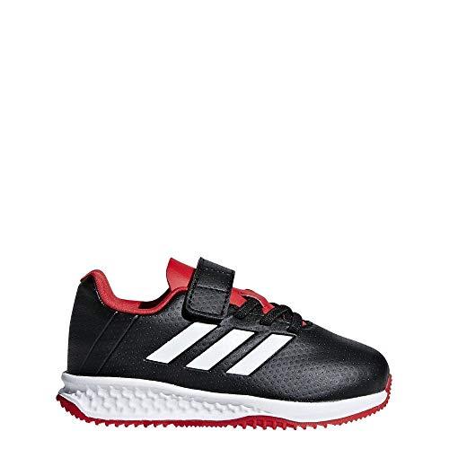 adidas Unisex-Kinder RapidaTurf Predator EL Fußballschuhe, Schwarz (Negbás/Rojo/Ftwbla 000), 26.5 EU