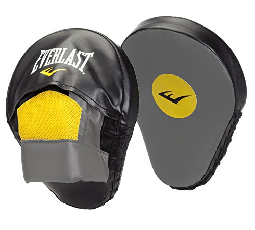 Everlast Erwachsene Boxartikel 4416 Vinyl Mantis Punch Mitts Black/Grey/Yellow, OSFA -