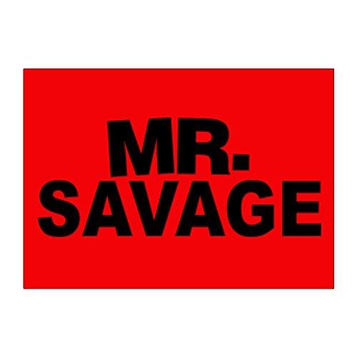 Teeburon Mr Savage Aufkleber Packung x4 -