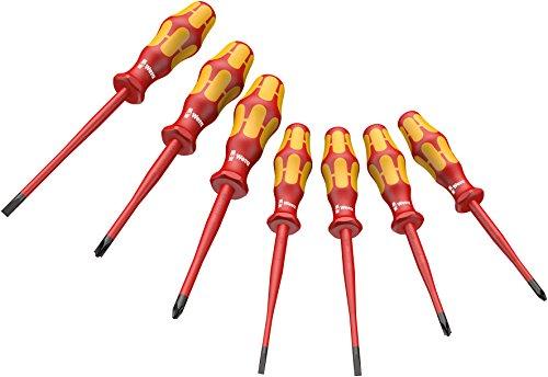 Preisvergleich Produktbild Wera VDE-isolierter Schraubendrehersatz 160 iSS/7 Kraftform Plus Serie 100, 7-teilig, 05135961001