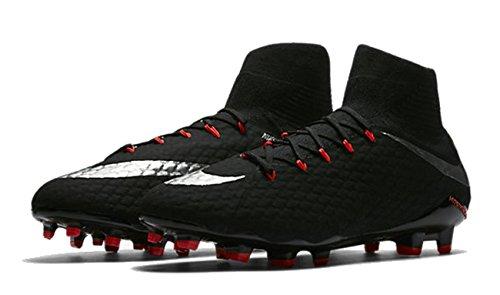 NIKE Hypervenom Phatal III DF FG Chaussures de Football Noir/Silver métallique de Blac Mehrfarbig