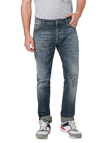 Desigual Herren Straight Jeans DENIM GORIA Blau (Denim Dark Blue ... 55a3c7cfd1