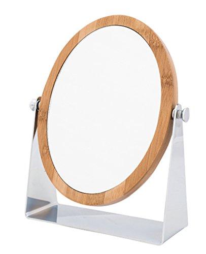 Danielle Creations Miroir rond 18 cm Support Bambou