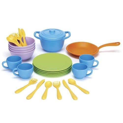 Preisvergleich Produktbild Green Toys 0793573454263 - Spiel Koch- und Essgeschirr