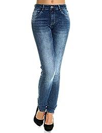 Damen Jeans Hose High Waist in Übergrößen 21460
