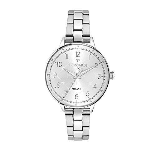 TRUSSARDI Reloj Analógico para Mujer de Cuarzo con Correa en Acero Inoxidable R2453120501