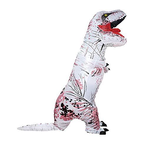 pittospwer Kid Adult Aufblasbares Dinosaurier Kostüm T Rex Kostüm Halloween Blow up Suit