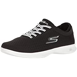 Skechers performance Women' s go step Lite lace-up Walking shoe, nero