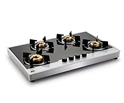 Glen GL 1074 BW FB AI Glass Cooktop