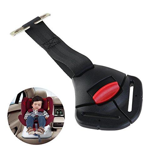 Pasador con hebilla y clip para colocar en la sillita infantil y atarla al cinturón de seguridad del coche, de la marca NUOLUX