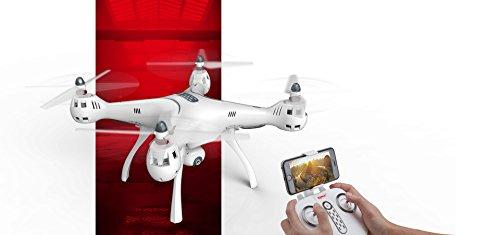 trendy planets® SYMA X8PRO GPS WIFI FPV RC Quadrocopter mit 1MP HD Kamera / Hover Funktion Headless Modus RTF 2,4 GHz / Neuheiten 10/2017 (X8PRO, white) - 6