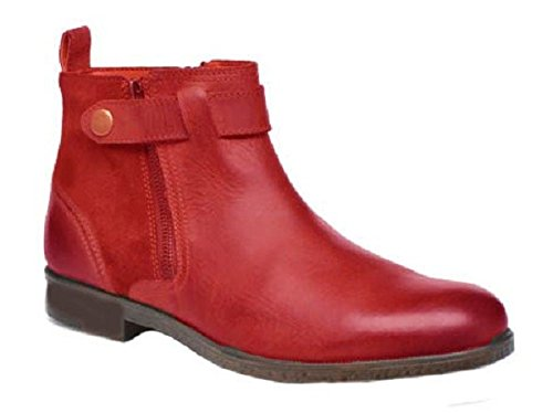 Chaussures bottines model TRISTAN en cuir par HGilliane Design Eu 33 au 46 red