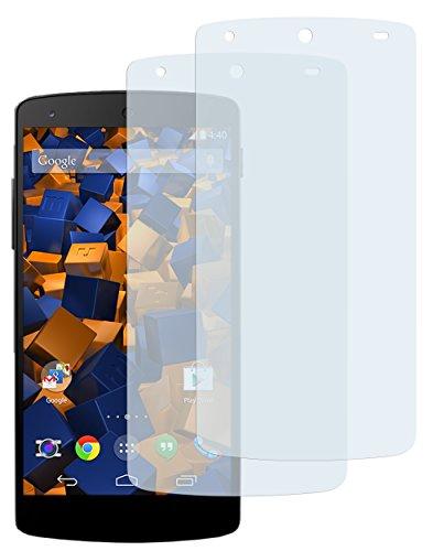 mumbi Schutzfolie kompatibel mit LG Google Nexus 5 Folie klar, Displayschutzfolie (2x)