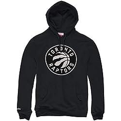 Mitchell & Ness Toronto Raptors B & W Logo NBA–Sudadera con capucha negro, medium