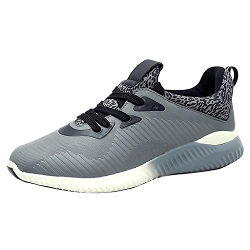 SHOBDW Chaussures de Course Basket Sneakers Running Sport Compétition Poids léger Trail entraînement Homme Outdoor Running Sports Fitness Gym Shoes (Gris,40)