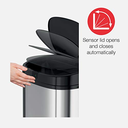 Morphy Richards Chroma Square Sensor Bin with Infrared Technology, Silver, 50 Litre