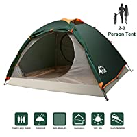 bfull camping tents for family 2-3 person, ultralight backpacking tent for hiking camping outdoor, waterproof double layer dome tent