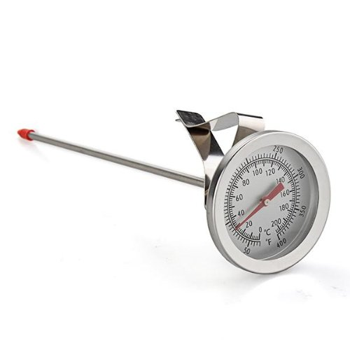 Ecloud Shop 2 pieces Edelstahl 200°C Küche Bratenthermometer mit Celsius und Fahrenheit 220x55x55mm