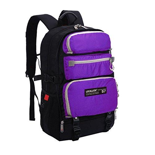 Unisex Leicht Laptop Tasche Multifunktional Schulter Tasche Purple