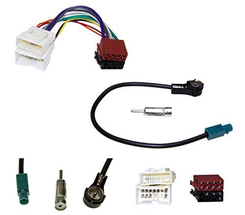 Radio Einbau Adapter Set Antennen Adapter Kabel Stecker Buchse DIN ISO