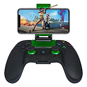 Wireless Gamepad, Proslife Mobiler Gamecontroller Tragbarer Gaming Joystick Griff für Android IOS