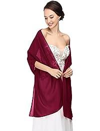 MicBridal® Chiffon Stola Schal für Brautkleider Abendkleider Alltagskleidung in verschiedenen Farben