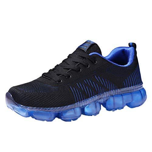 Saingace NO-361 Scarpe da Ginnastica da Uomo Scarpe Eleganti Running Sneakers Casual Ginnastica Fitness Respirabile Leggero Casual All'Aperto