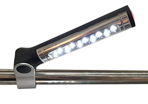 Santos LED Grillleuchte, um 360° drehbare Lampe mit hellem Licht zur Beleuchtung von Grill und Garten, batteriebetrieben 3 x AA Batterie