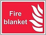 vsafety 13037ar-s coperta antincendio segno, vinile autoadesivo, orizzontale, 200mm x 150mm