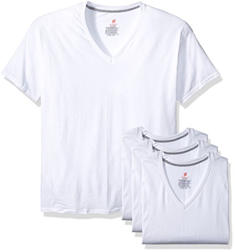 Hanes ComfortBlend® Men's Perfect T White V-Neck Undershirt 3-Pack 2XL White (White V-neck Hanes)