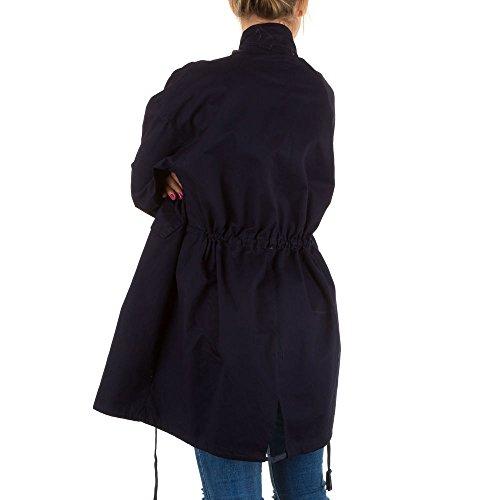 Ital-Design - Blouson - Femme Bleu - Bleu foncé