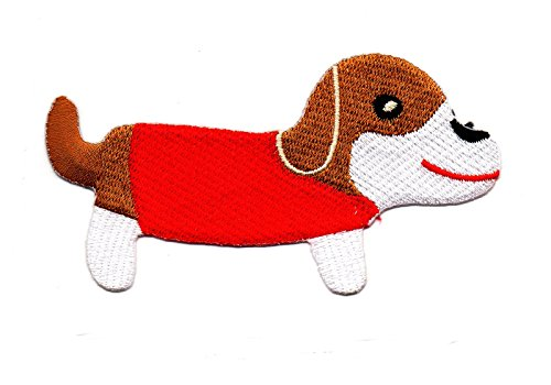 Dog Puppy Pet Cartoon Kinder Cartoon Kids Animal Cartoon Patch für Heimwerker-Applikation Eisen auf Patch T Shirt Patch Sew Iron on gesticktes Badge Schild Kostüm (Smile Dog Kostüm)