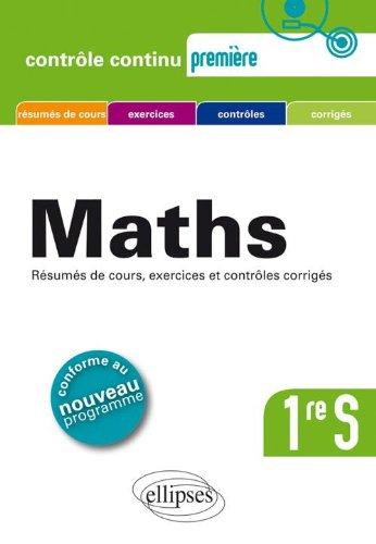 Mathmatiques Premire S Conforme au Nouveau Programme 2011