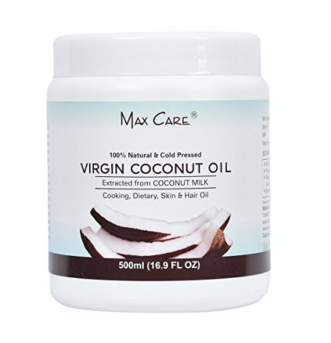 Max Care Virgin Coconut Oil (Cold Pressed) 500Ml Wide Mouth
