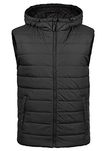 BLEND Nilo Herren Steppweste Weste mit Kapuze aus hochwertiger Materialqualität , Größe:L, Farbe:Black (70155)