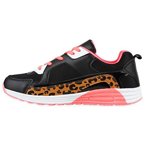 Japado - Scarpe da Ginnastica Basse Donna (Leopard Coral)