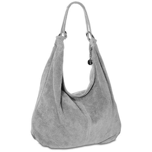 CASPAR Taschen & Accessoires, Borsa a spalla donna Light Grey