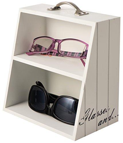 Aufbewahrungsbox für Brillen Brillenständer Brillenhalter Brillenablage Sonnenbrille Lesebrille Ablage Holz