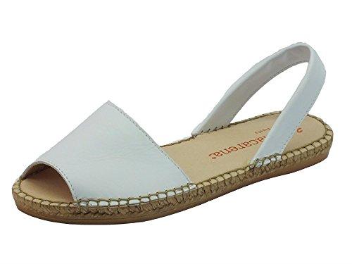 Sandali Macarena per donna in pelle bianca (Taglia 41)