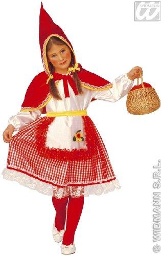 Imagen de widman  disfraz de caperucita roja para niña, talla 3  4 años 3470c