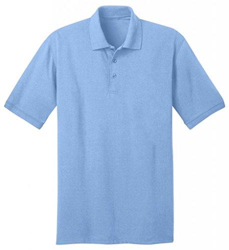 Port & Company Herren bequemes Halsband Knit Polo Jersey Aquatic Blue