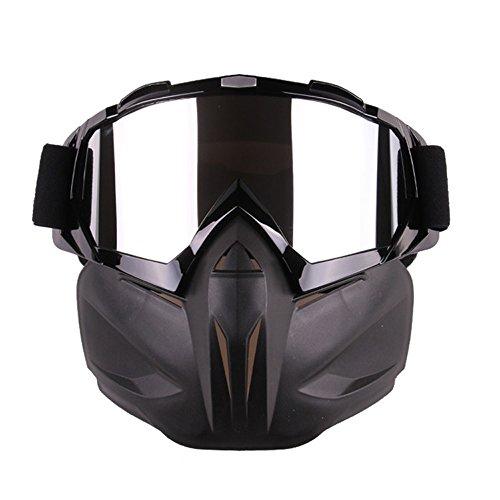 EnzoDate Motorrad Dirt Bike ATV Brille Maske abnehmbare Harley Style Helm Sonnenbrille
