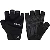 Trideer Weight Lifting Gloves with Padded & Anti-slip 3-Piece Silica Gel Grip & Adjustable Fasteners, Gym Gloves for Yoga, Workout, Sports,Fitness, Cross Training (Men & Women)