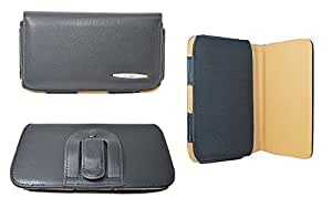 TOTTA Universal PU Leather Black Belt Pouch For Karbonn Smart A12 Star