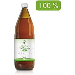 Jugo 100% orgánico de Aloe Vera | Fileteado a mano | Rico en ingredientes naturales | Promedio 1200 mg / l Aloverose | 1000ml | Botella de 1 litro