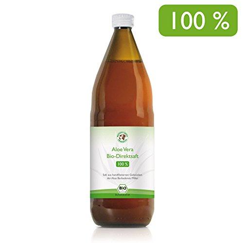Aloe Vera Premium Bio Direktsaft, handfiletiert, durchschnittlich 1200mg/l Aloverose, 1000ml