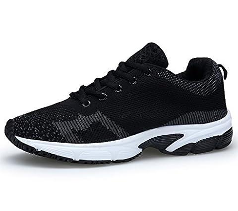 XKMON Homme Chaussures de course running sport Compétition entraînement basket ete baskets XZ106M Black 44