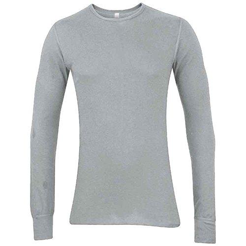 American Apparel Damen T-Shirt Grau Meliert