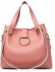 Mujer de moda anillo de la madre paquete de Dos piezas de las Mujeres bolsa de Hombro bolsa de mensajero rosado