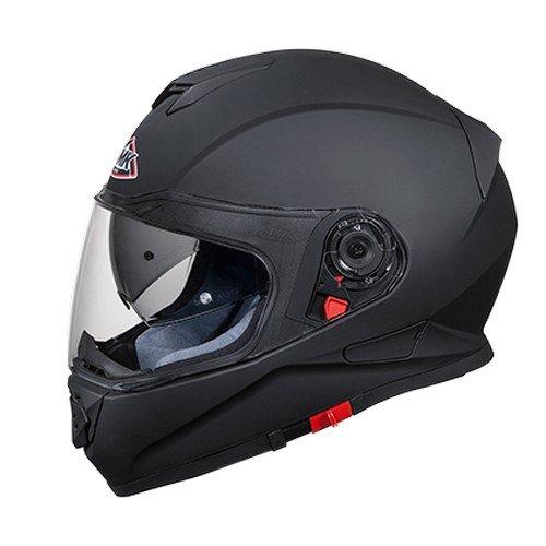 SMK MA200 Twister Pinlock Fitted Full Face Helmet with Clear Visor (Matt Black, L)